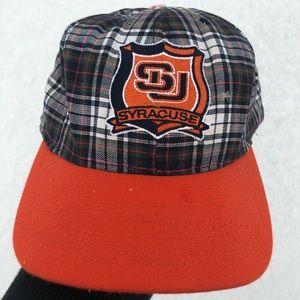 Vintage Syracuse University Plaid SnapBack
